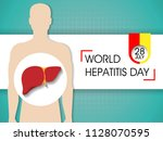 world hepatitis day background   Shutterstock .eps vector #1128070595