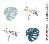 botanical vector elements... | Shutterstock .eps vector #1128072218