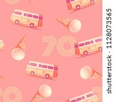 the 70's. hot summer seamless... | Shutterstock .eps vector #1128073565