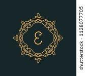 e letter luxury logo template...   Shutterstock .eps vector #1128077705