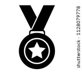 medal award icon vector   1st... | Shutterstock .eps vector #1128079778