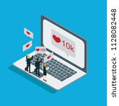 business technology internet... | Shutterstock .eps vector #1128082448