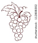 bunch of grapes | Shutterstock .eps vector #112808302