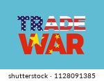 trade war between china and... | Shutterstock .eps vector #1128091385