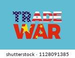 trade war between china and...   Shutterstock .eps vector #1128091385