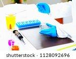 quality control expert... | Shutterstock . vector #1128092696