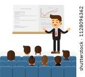 business seminar speaker doing... | Shutterstock .eps vector #1128096362