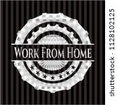work from home silvery shiny... | Shutterstock .eps vector #1128102125