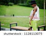 amazing african american model... | Shutterstock . vector #1128113075