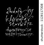 vector fonts   handwritten... | Shutterstock .eps vector #1128117308