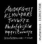 vector fonts   handwritten... | Shutterstock .eps vector #1128117338