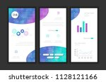 molecule background dna page... | Shutterstock .eps vector #1128121166