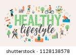 healthy lifestyle. roller... | Shutterstock .eps vector #1128138578
