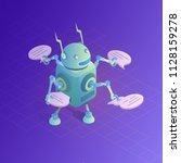 chatbot concept. online... | Shutterstock .eps vector #1128159278