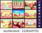 candy landscape  collection of... | Shutterstock .eps vector #1128165752
