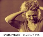 negative human emotions ... | Shutterstock . vector #1128174446