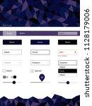 dark purple vector web ui kit...