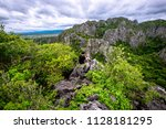 the tourist take a 360 degree... | Shutterstock . vector #1128181295