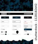 dark blue vector wireframe kit...