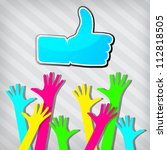 """happy hands with """"like"""" symbol... 