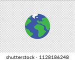 earth globe planet colorful... | Shutterstock .eps vector #1128186248