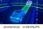 autonomous self driving... | Shutterstock . vector #1128196295