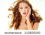 beautiful woman with perfect... | Shutterstock . vector #112820242
