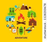 adventure summer postcard.... | Shutterstock .eps vector #1128203678