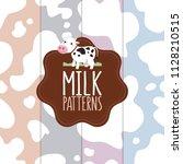 milk splash patterns collection....   Shutterstock .eps vector #1128210515