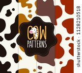 cow skin patterns collection.... | Shutterstock .eps vector #1128210518