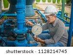 engineering man wearing white... | Shutterstock . vector #1128214745