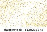 gold confetti. festive texture... | Shutterstock .eps vector #1128218378