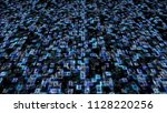 blue hexadecimal big data... | Shutterstock . vector #1128220256