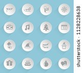new year web icons on light... | Shutterstock .eps vector #1128228638