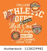 college athletic department... | Shutterstock .eps vector #1128229982