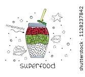 hand drawn illustration of... | Shutterstock .eps vector #1128237842