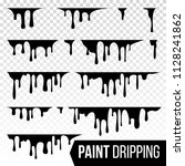 paint dripping liquid vector.... | Shutterstock .eps vector #1128241862