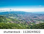 panoramic view of barcelona ... | Shutterstock . vector #1128245822