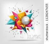 volleyball ball background text   Shutterstock .eps vector #1128247655