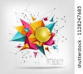 big ball for fitness  ...   Shutterstock .eps vector #1128247685