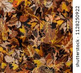 seamless autumn pattern with... | Shutterstock .eps vector #1128250922