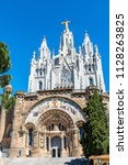 temple of the sacred heart on... | Shutterstock . vector #1128263825