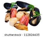 Closeup Fresh Seafood  ...