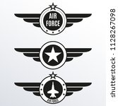 air force badge set. airforce... | Shutterstock .eps vector #1128267098
