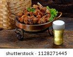 brazilian style fried chicken... | Shutterstock . vector #1128271445