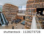 coex mall in seoul  south korea ... | Shutterstock . vector #1128273728