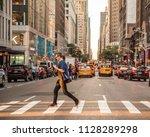 new york city   june 16  2018   ...   Shutterstock . vector #1128289298