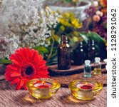 aromatherapy square composition ... | Shutterstock . vector #1128291062