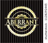 aberrant gold badge or emblem   Shutterstock .eps vector #1128292445