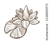 lotus traditional symbolic... | Shutterstock .eps vector #1128302972